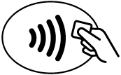 Contactless Payment Symbol for Digital Wallet